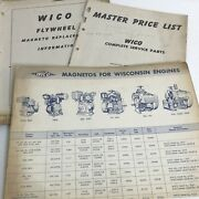 Vintage Wico Electric Company Magneto Flywheel Price List Charts Parts Lot