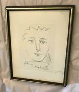 Pablo Picasso Print Roby Coa Certificate Of Authenticity Stamped Seal Plt Signed