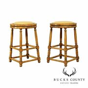 Guy Chaddock Backless Pair Swivel Counter Height Bar Stools