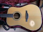 History Nt-101 Natural Acoustic Guitar With Hard Case Shipped From Japan