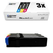 3x Eco Cartridge For Dell 1320-c 1320-cn