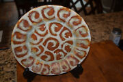 Richie Watts Good Earth Pottery Ms 2003 9 Plate Brown Curly Design Excellent