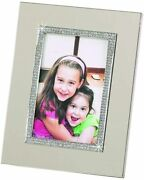 D Photo Frames 4x6 Metal Crystallized Silver Frame For Family Wedding Picture