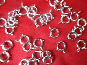 Sterling Silver 6mm Spring Ring Clasps W/ Open Jump Rings Jewelry Craft 440-pcs