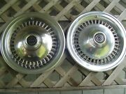 Two 1977 1978 1979 Ford Thunderbird T Bird Hubcaps Wheel Covers Classic Vintage