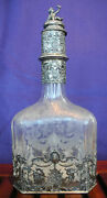 Antique Decanter By Jakob Storck And Sinsheimer Etched Crystal And Silver Treasure