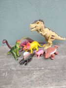 Vintage Dinosaur Toy Lot80and039s Dino Action Figure Toys Not Jurassic Park T-rex