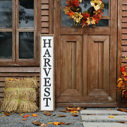 Glitzhome 41'' Farmhouse Style Wooden Harvest Porch Sign Welcome Fall Home Decor