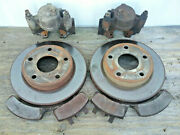 Used Salvaged 94-99 Dodge Ram 1500 4wd 2 Front Disc Brake Rotors Calipers And Pads
