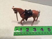 Vintage Lead Toy Horse With Saddle Figure
