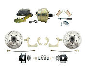 55-58 Gm Full Size Disc Brake Kit W/ 8 Dual Zinc Booster Conversion Kit