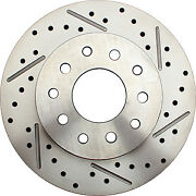 64-72 Gm A Body 2 Drop Front Rear Disc Brake Drilled Rotors Black Calipers
