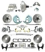 64-72 Gm A Body Front And Rear Power Disc Brake Kit W/ 11 Chrome Booster