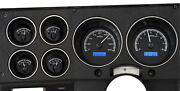 1973-87 Chevy Pickup Vhx System Black Alloy Style Face Blue Display