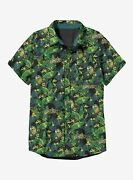 Star Wars Millennium Falcon Tropical Woven Button-up Shirt Nwt Official Licensed