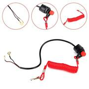 Motorcycle Outboard Lawn Mowers Emergency Engine Kill Stop Switch With Lanyard