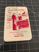 1948 Capital Airlines Pittsburgh Steelers Pocket Schedule Very Rare Vg/ex