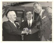 Photograph Signed By Harry S. Truman And Lyndon B. Johnson - W/ Loa From Truman