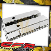 1958-86 Chevy Small Block Tall Chrome Aluminum Valve Covers - Smooth