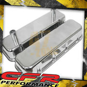 1965-95 Chevy Big Block Tall Polished Aluminum Racing Valve Covers - Smooth