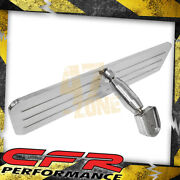 Chevy Ford Mopar Polished Aluminum Rear View Mirror - Ball Milled