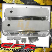 1965-95 Chevy Big Block Tall Polished Aluminum Valve Covers - Smooth