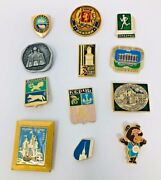 Lot Of 12 Russian Soviet Metal Pins And Awards