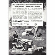 1967 Gravely Convertible Tractor Makes Tough Jobs Easy Vintage Print Ad
