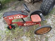 Vintage Pedal Car Tractor Go Trac Chain Drive Rusted Antique 1950s 1960s