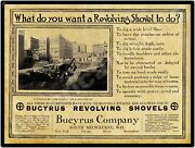 1913 Bucyrus Revolving Shovels New Metal Sign South Milwaukee, Wisconsin