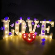 White Led Marquee Letters Vintage Light Decorate Alphabet Light Standing Numbers