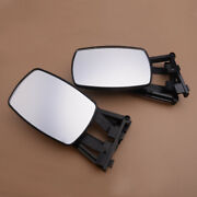 Car 2pcs Adjustable Extension Clip On Trailer Towing Side Mirror Rv Safe Hauling