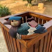 Old Wooden Duck Decoys Vintage Wood Painted Hand Carved Home Decor Decorative