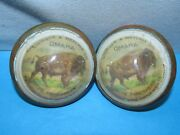 Lininger And Metcalf Omaha Pitts Threshers Implements Horse Bridle Rosette Buttons