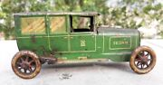 Antique Old Rare Wind Up Lehmann Marke 765 Sedan Car Tin Toy Made In Germany