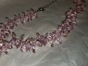 Rare Suzanne Somers Pink Crystal Rock Candy Necklace - Gorgeous New