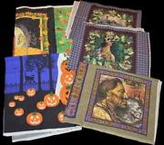 Huge Lot Of Autumn And Halloween Fabric Panels And Pillow Panels Daisy Kingdom