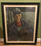 Vintage Original Poster Engineer By Jerry Farnsworth Railroad