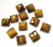 Natural Tiger Eye Loose Gemstones Square Shape Checker Cut Size In 21mm To 25mm