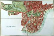 Genuine Folding Antique Map Of Westminster / London By Stanford Ca. 1875s