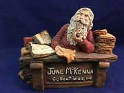 June Mckenna 1987 Collectibles Inc. Display Name Plaque Santa With Pipe