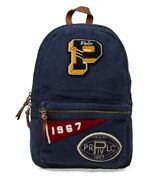 Polo Pennant Patch Cotton Backpack Navy