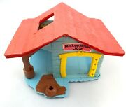 Vintage 1976 Weebles Mickey Mouse Clubhouse Toy Playset