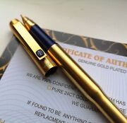 24k Gold Plated Parker 25 Fountain Pen Flighter Writing Pen Vintage Gift 24ct