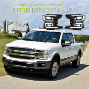 Headlight Assembly Fit For Ford F-150 20182020 Led Sequential Turn Signal Lamp