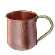 Hammered Copper Water Handle Solid Moscow Mule Mug With Brass Handle