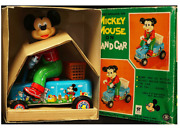 Walt Disney Mickey Mouse On 9.4 Hand Car Made In Japan