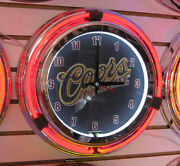 Coors Original 14 Double Ring Neon Clock - New In The Box