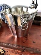 Antique/mid 20th Century 800 Silver Italian Wine Champagne Cooler Ice Bucket