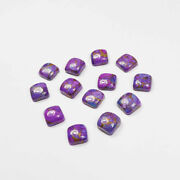 Natural Purple Copper Turquoise Loose Gemstones 11mm To 15mm Cushion Cabochon